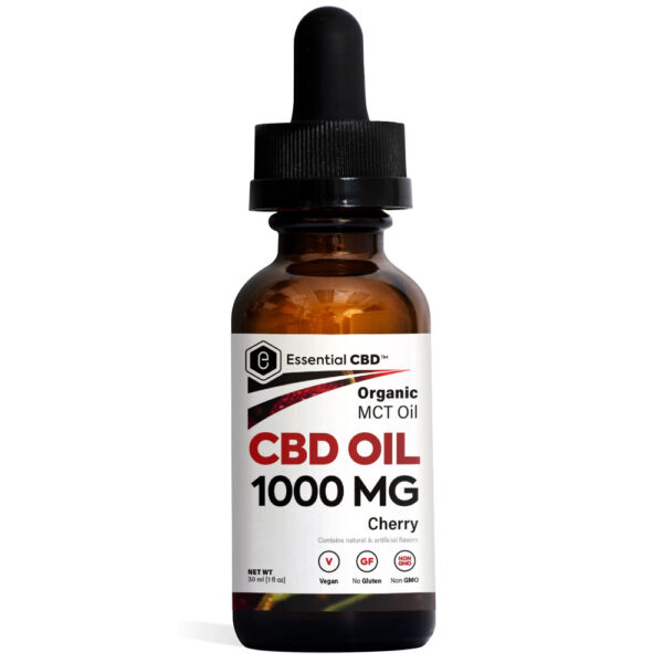 Essential CBD Oil - Cherry 1,000mg Bottle