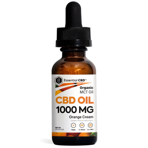 Essential CBD Oil - Orange Cream 1,0000mg Bottle