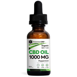 Essential CBD Oil - Peppermint 1,000mg Bottle