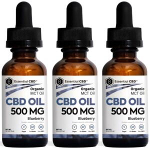 Essential CBD - 500mg Blueberry Tincture Pack