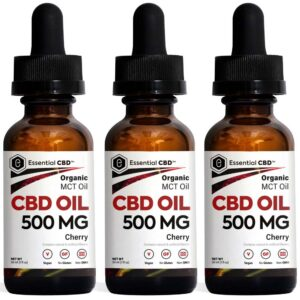Essential CBD - 500mg Cherry Tincture Pack