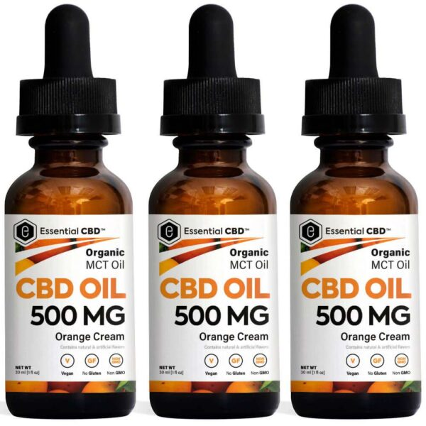 Essential CBD - 500mg Orange Cream Tincture Pack