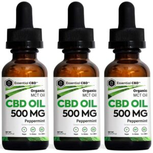 Essential CBD - 500mg Peppermint Tincture Pack