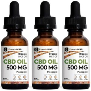 Essential CBD - 500mg Pineapple Tincture Pack
