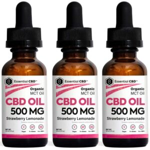 Essential CBD - 500mg Strawberry Lemonade Tincture Pack