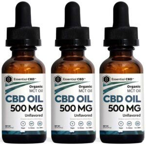 Essential CBD - 500mg Unflavored Tincture Pack