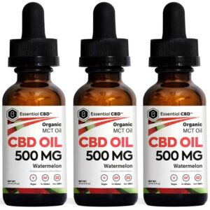 Essential CBD - 500mg Watermelon Tincture Pack