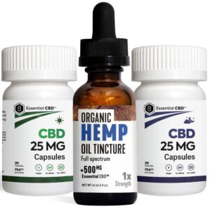 Hemp 500 Tincture_Capsules Pack