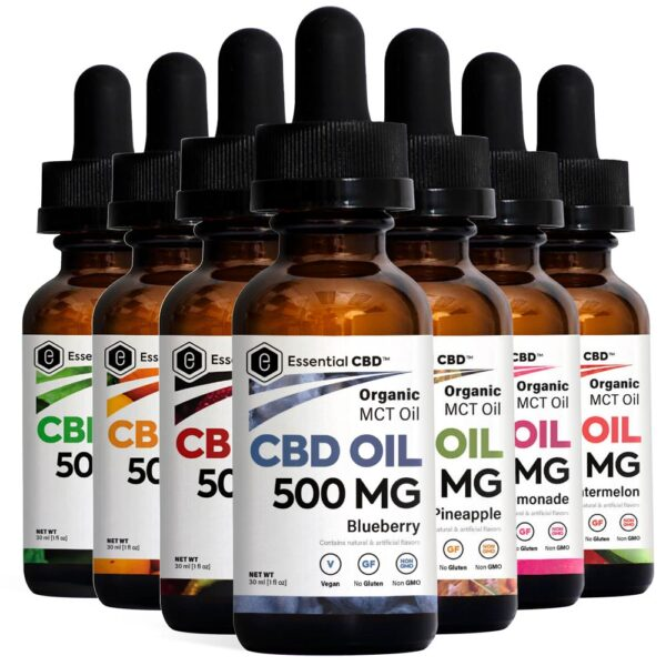 Essential CBD Flavored Tinctures Pack - 500mg Bottles