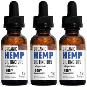 Essential CBD - 500mg Organic Hemp Tincture Pack